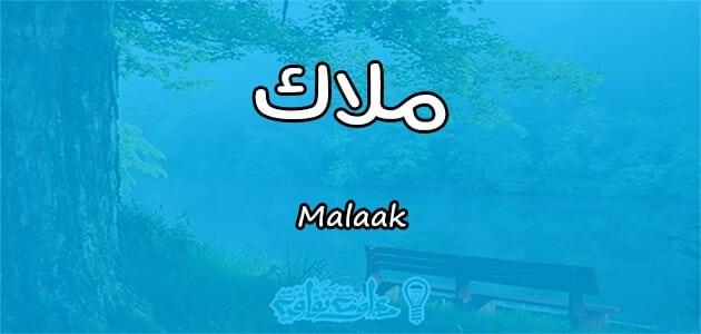 معنى اسم ملاك Malaak حسب علم النفس