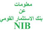 معلومات عن بنك الاستثمار القومي
