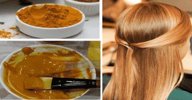 كيفية عمل صبغة الشعر بالكركم