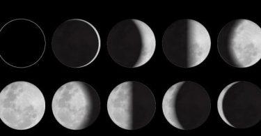 أطوار القمر بالترتيب