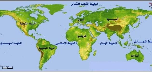 أين يقع المحيط الهادي في الخريطه معلومة ثقافية