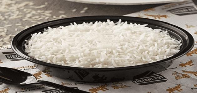 السعرات الحرارية في ملعقة الارز المطبوخ