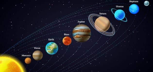 كواكب المجموعة الشمسية بالعربي