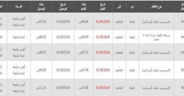 مواعيد قطارات طنطا القاهرة واسعار التذاكر