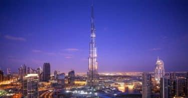 ارتفاع برج خليفة؟