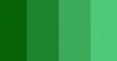 اللون الاخضر ودرجاته