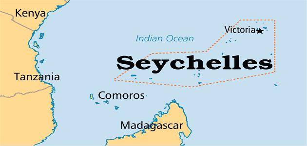 جزر سيشل على الخريطة