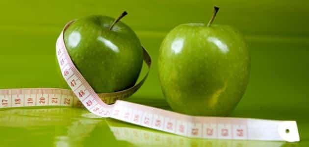 رجيم 10 كيلو في اسبوع تفاح اخضر