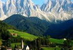 كم ارتفاع جبال الألب؟