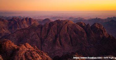 موقع جبل الطور على الخريطة