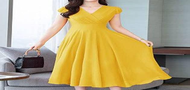 فستان أصفر طويل في المنام