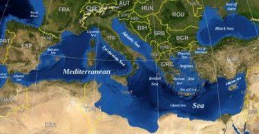 دول حوض البحر الأبيض المتوسط وعواصمها