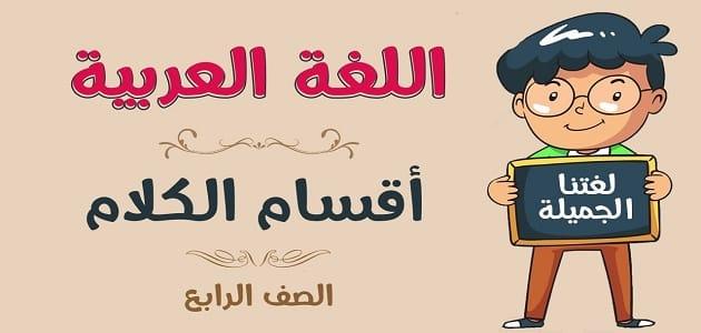شرح أنواع الكلمة في اللغة العربية