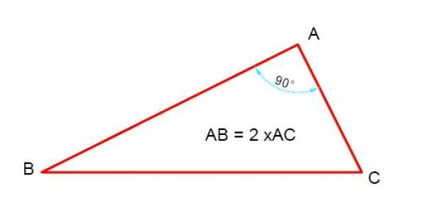 قانون حساب الوتر في مثلث قائم الزاوية