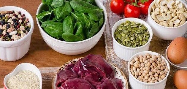 أعشاب وأطعمة غنية بالحديد للحامل في الحمل