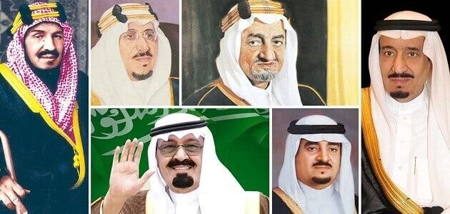 أسماء ملوك المملكة العربية السعودية بالترتيب