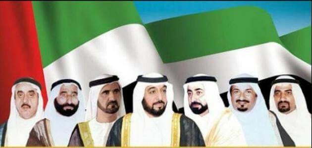 اسماء حكام الإمارات السبع وأولياء العهود