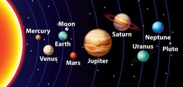 كم عدد الكوكب في النظام الشمسي بالترتيب