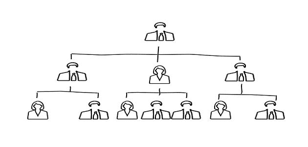 بحث عن التنظيم الإداري مع المراجع