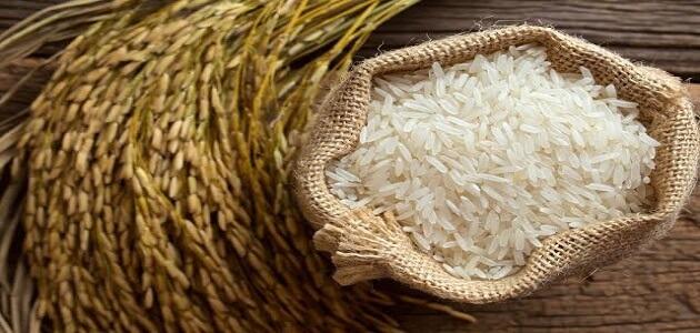 الرز اليابس في المنام