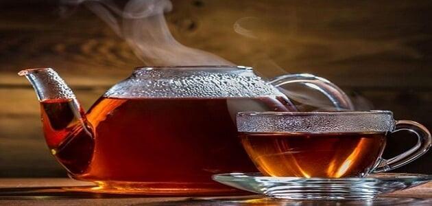 شرب الشاي بعد الاكل