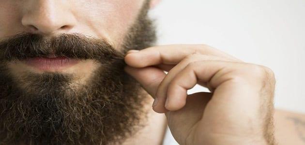 قشرة الوجه عند الرجال